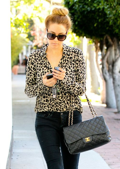 lauren conrad with her chanel classic flap bag style