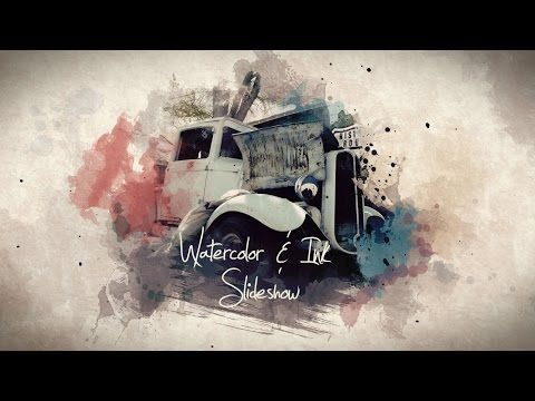 After Effects Watercolor Ink Slideshow Template Watercolor