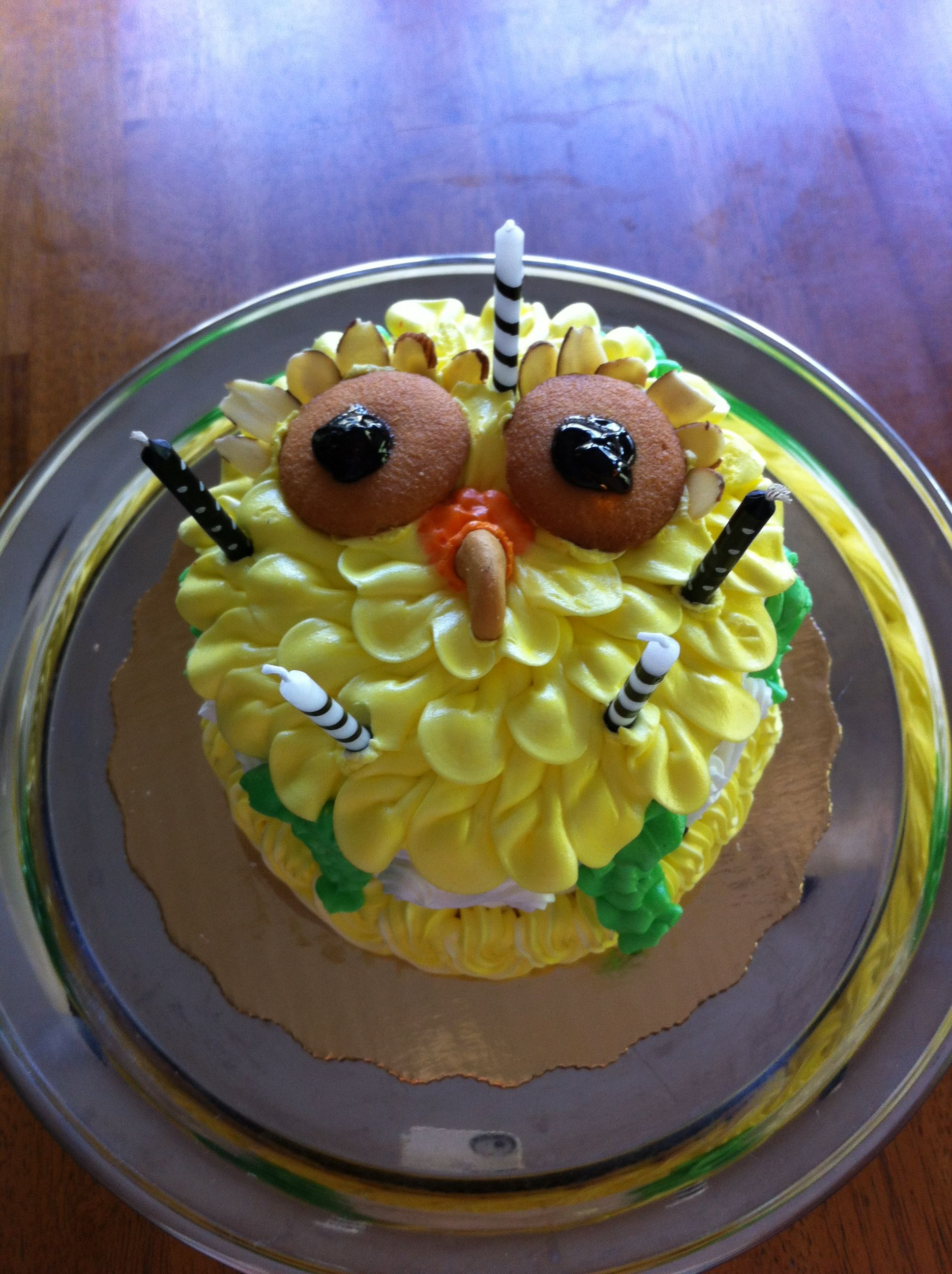 Owl birthday cake Easy to decorate Foodies Unite Pinterest