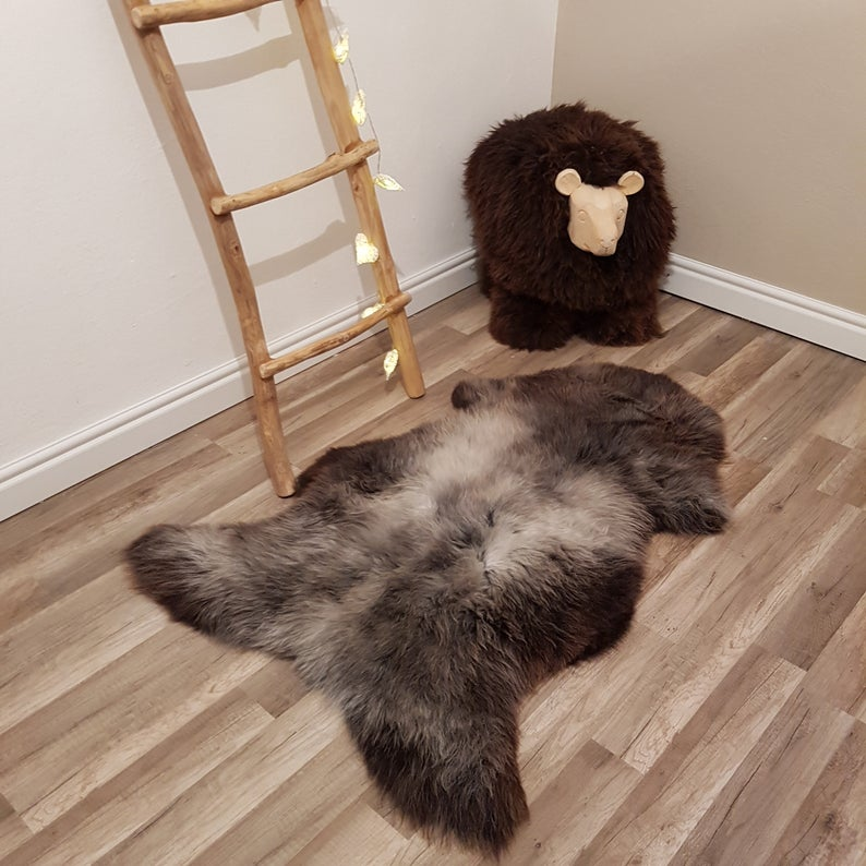 Natural Color Genuine Sheepskin Rug 100 Sheep Skin Leather Etsy In 2020 Sheepskin Rug Rug Decor Soft Rug