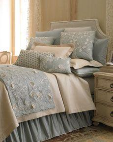 Sea Blue bed linens, Horchow.