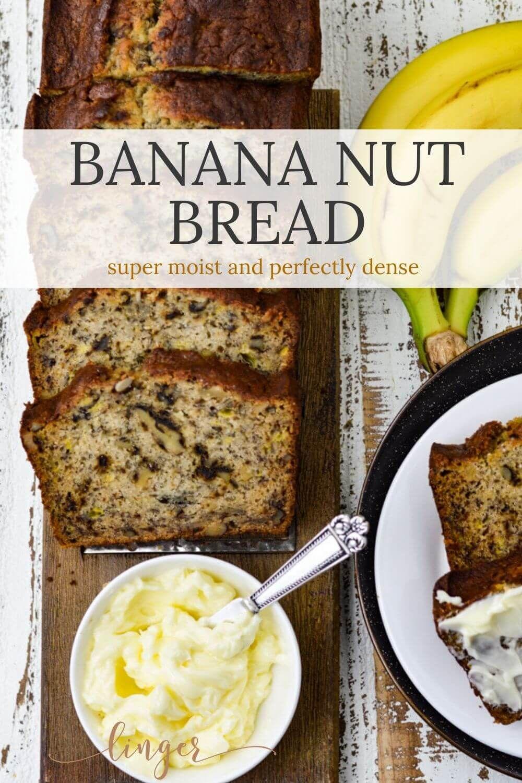 Old Fashioned Easy Banana Nut Bread Recipe In 2020 Banana Nut Bread Easy Banana Nut Bread Recipe Buttermilk Banana Bread