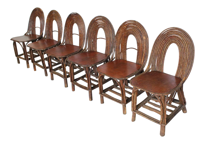 Stylish Antique Adirondack Chairs Set Of Six On DECASOcom - Rustic furniture conroe tx