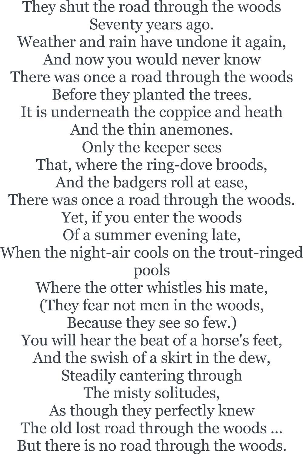 Image Result For The Way Through Wood By Rudyard Kipling If Poetry Word Poems Crossing Bar Alfred Lord Tennyson Paraphrase Analysi Meaning
