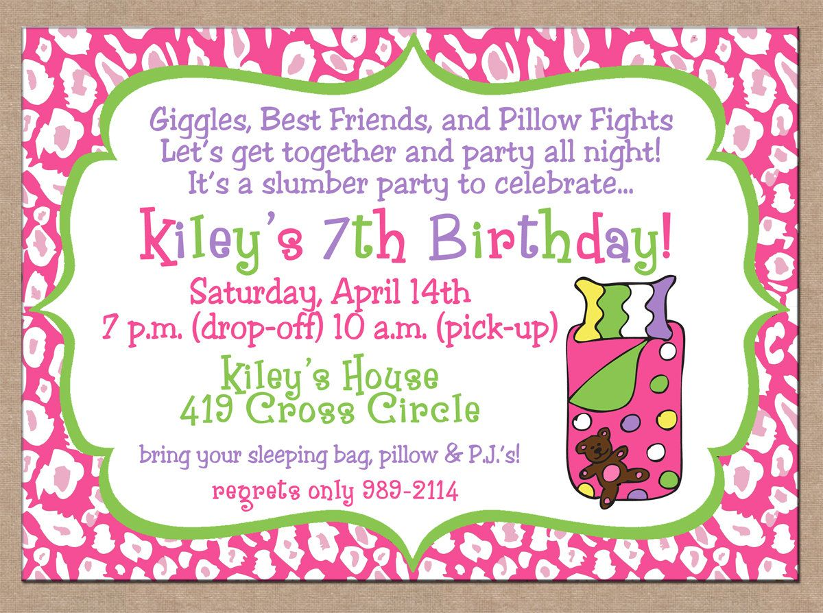 Girl sleepover party activities birthday sleepover invitations girl sleepover party activities birthday sleepover invitations stopboris Images