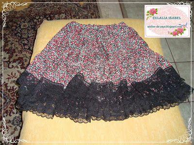 falda con rizos, y encajes para Natashita.
