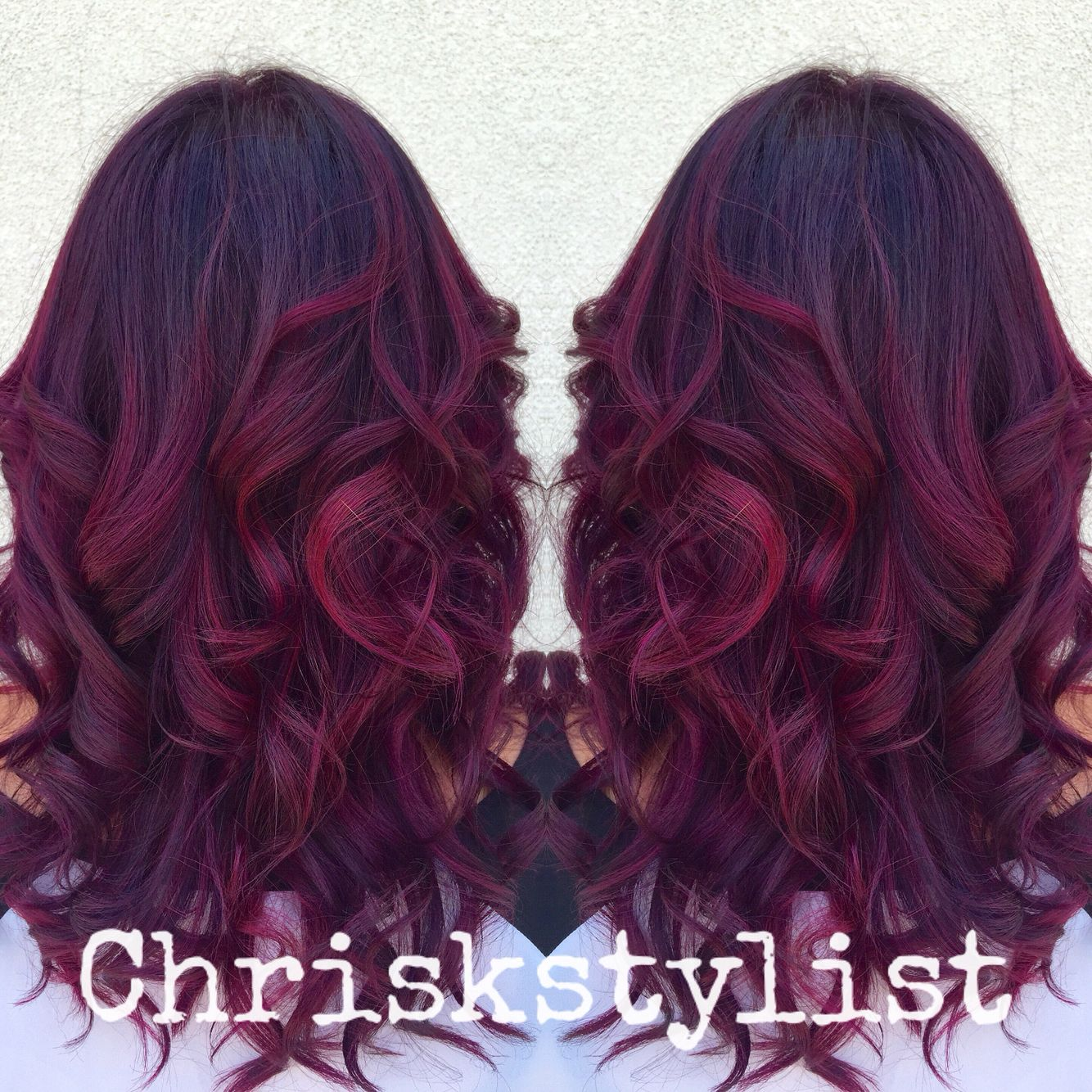 Radiant Raspberry Color Melt Ombr 233 Baylayage Hair