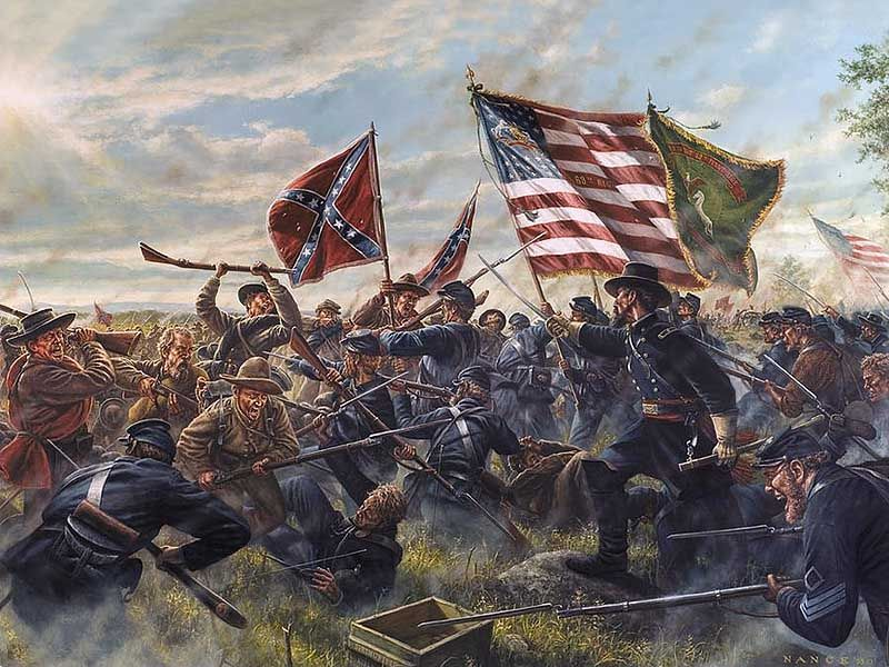 Volley Fire Painting : Sash and Sabre 25mm American Civil ... |American Civil War Battle Paintings