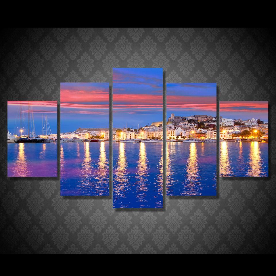 HD Printed ispaniya eivissa ibiza Painting Canvas Print ...
