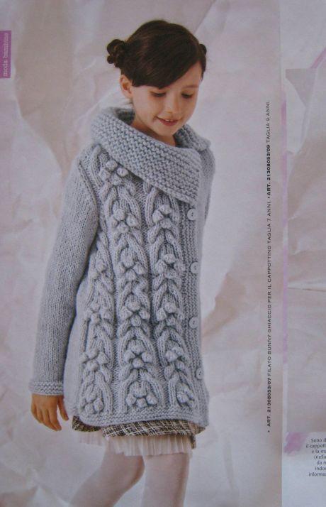 Вязание для девочек пальто Ghiaccio, Mani di Fata, 8, 2013 ...