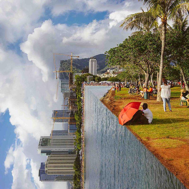 Folded Landscape Photography Photo Manipulation Landscape Landscape Photography Fine Art Landscape Photography