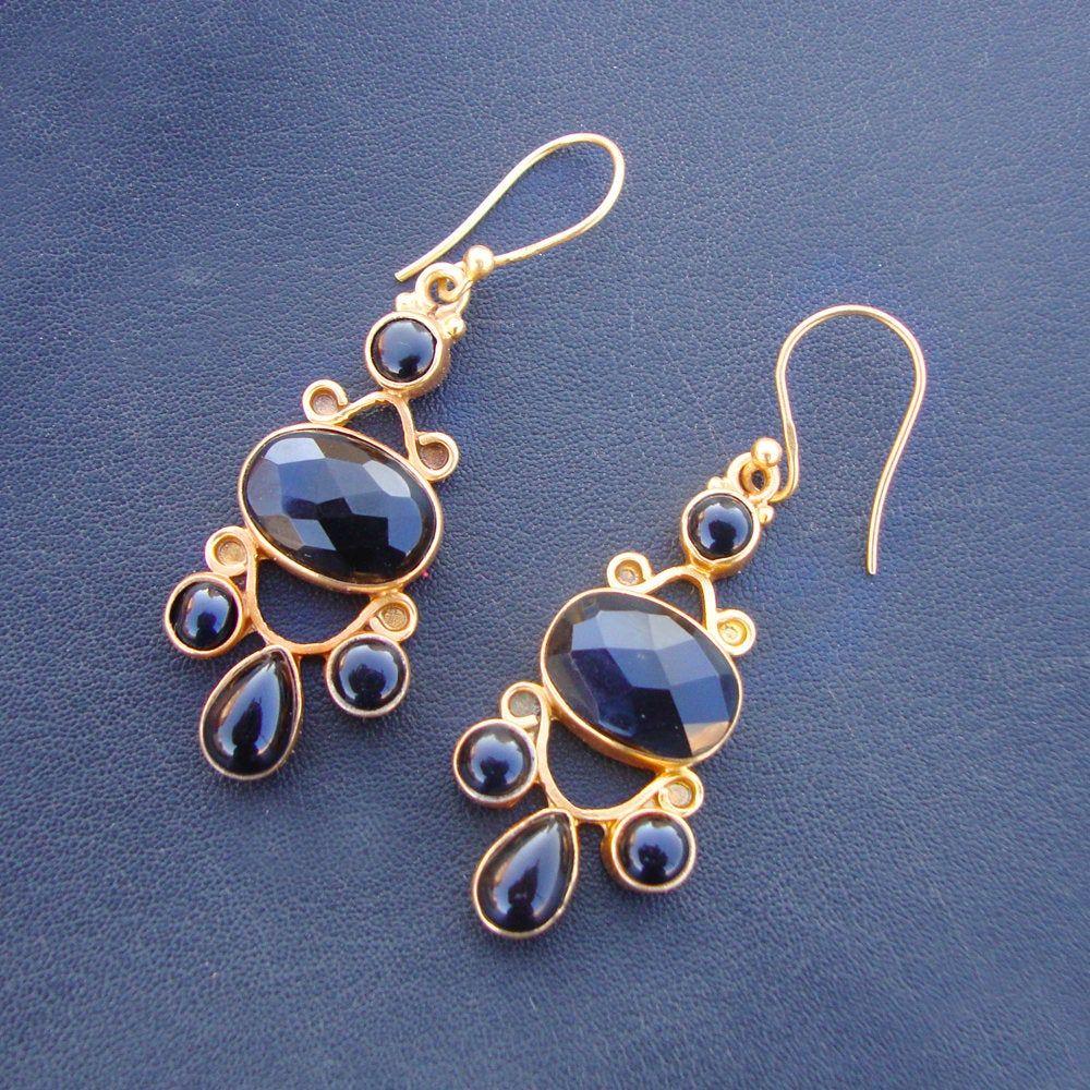 Wedding Gift,Blue Chalcedony Earrings Antique Silver Earring Sterling Silver Earrings Handmade Earrings Peacock Designer Earring