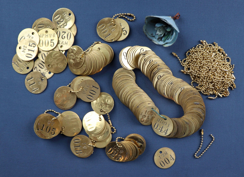 Vintage Round Stamped Brass Valve Identification Tags - SOLD ...