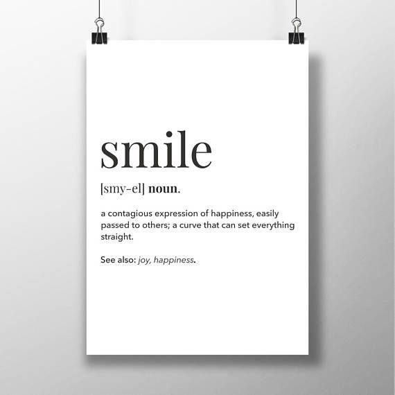 Smile Definition Definition Posters Smile Nursery Art