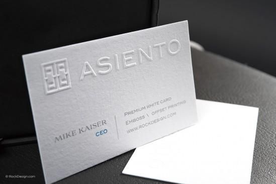 Classic embossed offset modern business card asiento business classic embossed offset modern business card asiento reheart Images