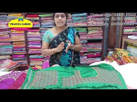 96eb1b100  Episode 567 Part-1 Chanderi Silk Matney Work Sarees 1497 - only PRAGNYA  SAREES
