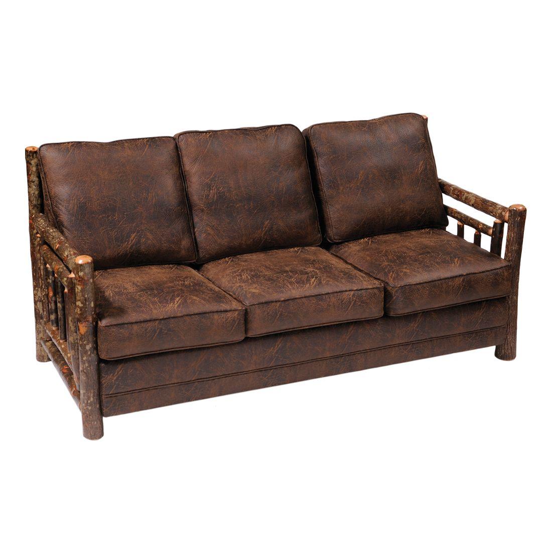 Hickory Sleeper Sofa Bed Lodge Furniture Cabin Decor Sleeper Sofa