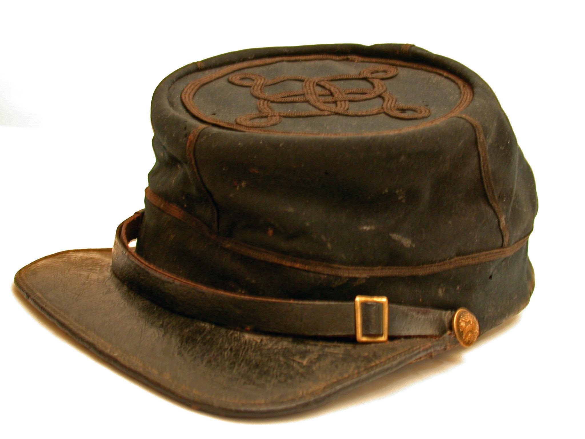 def59c53 Union Officer's Kepi. One row of braid on top and sides of hat indicates  1st or 2nd Lt.