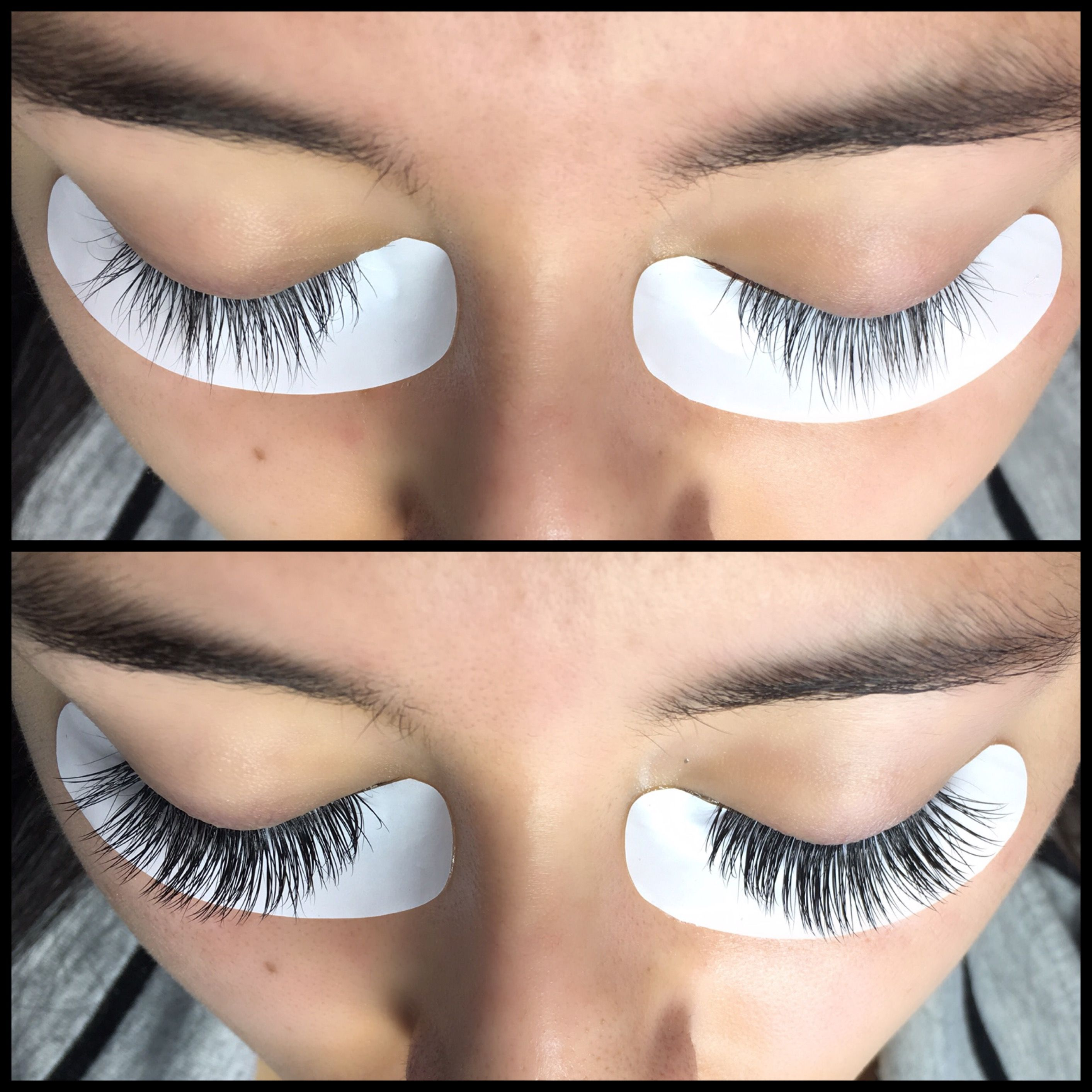 6bcae9c1477 Before + After of classic lash extensions | Lash101 in 2019 ...