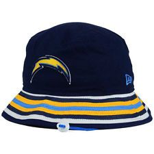 Los Angeles Chargers New Era NFL Team Stripe Bucket Hat Cap San Diego LA  Floppy 6bb3ea17c9d