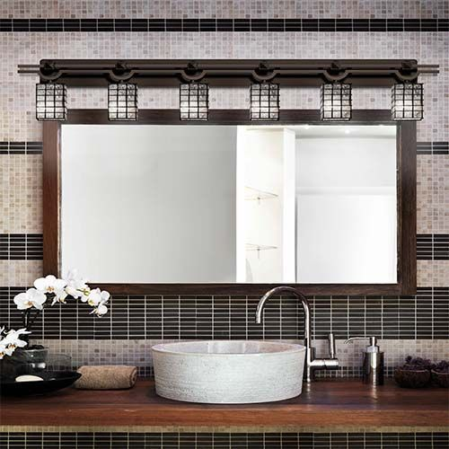 Wire Gl Matte Black Six-Light Bath Bar - (In Matte Black ... Bronze And Black Bathroom Design Pinterest on pinterest corner cabinets, pinterest closets, pinterest flooring, pinterest white bathrooms, pinterest showers, pinterest home, pinterest doors, pinterest beds, pinterest decorating, pinterest modern house, pinterest color, pinterest tile, pinterest bathtubs, budget mobile home kitchen designs, pinterest mirrors, pinterest storage, pinterest painting, pinterest country bathrooms, pinterest crafts rustic, pinterest kitchens,