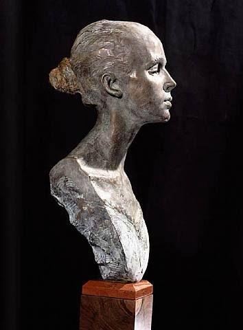 """""""Prima Elizabeth"""" Bronze h: 22 x w: 6 x d: 8 in #RichardMacDonald #Sculpture"""