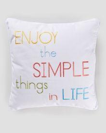Enjoy The Simple Things Pillow 20 Main View Pillows Enjoyment Levtex