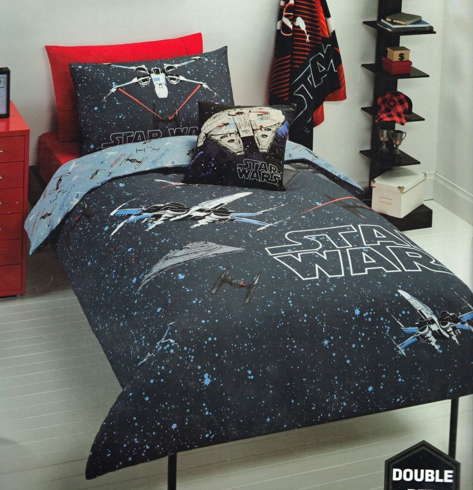 Licensed Star Wars Space Fight Double Duvet Doona Quilt Cover Set