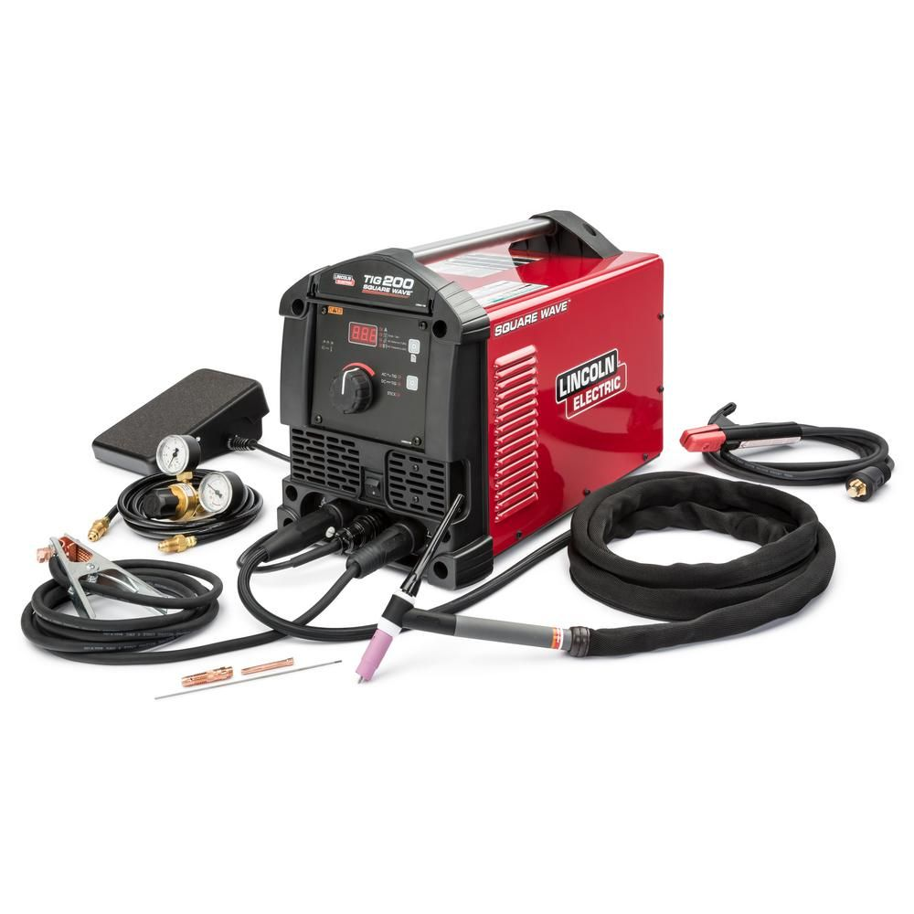 Lincoln Electric 200 Amp Square Wave Tig 200 Tig Welder With Torch And Foot Pedal 120 Volt 230 Volt K5126 1 The Home Depot Tig Welder Welding Welding Projects