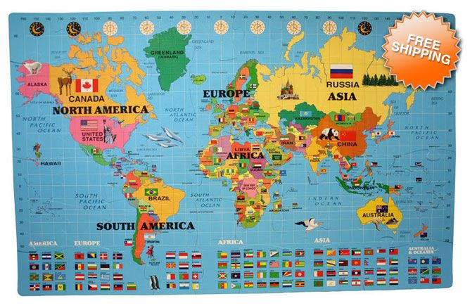 Incstores World Puzzle Play Mat Large 4ft X 6ft