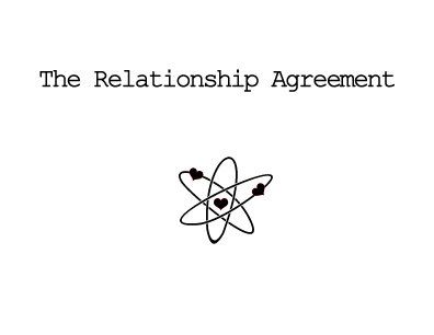 Big Bang Theory Relationship Agreement Card For A Boyfriend