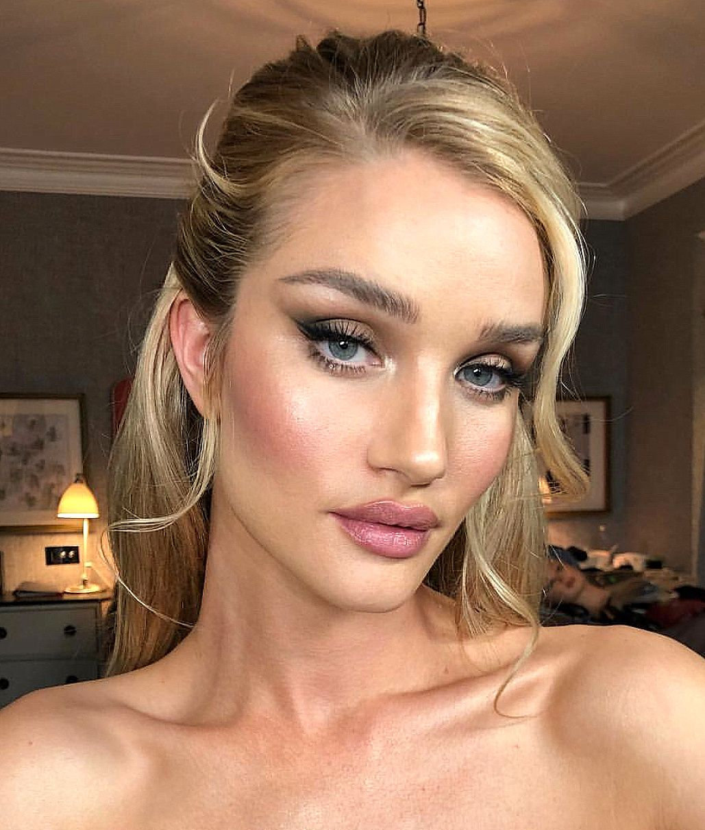 Rosie Huntington Whiteley makeup look Beautiful wedding