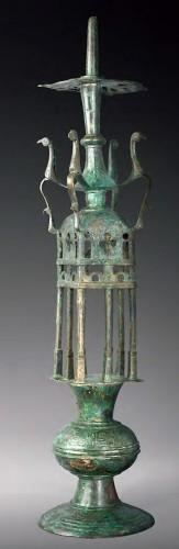 Bronze lamp holder,  Spain, al-Andalus,