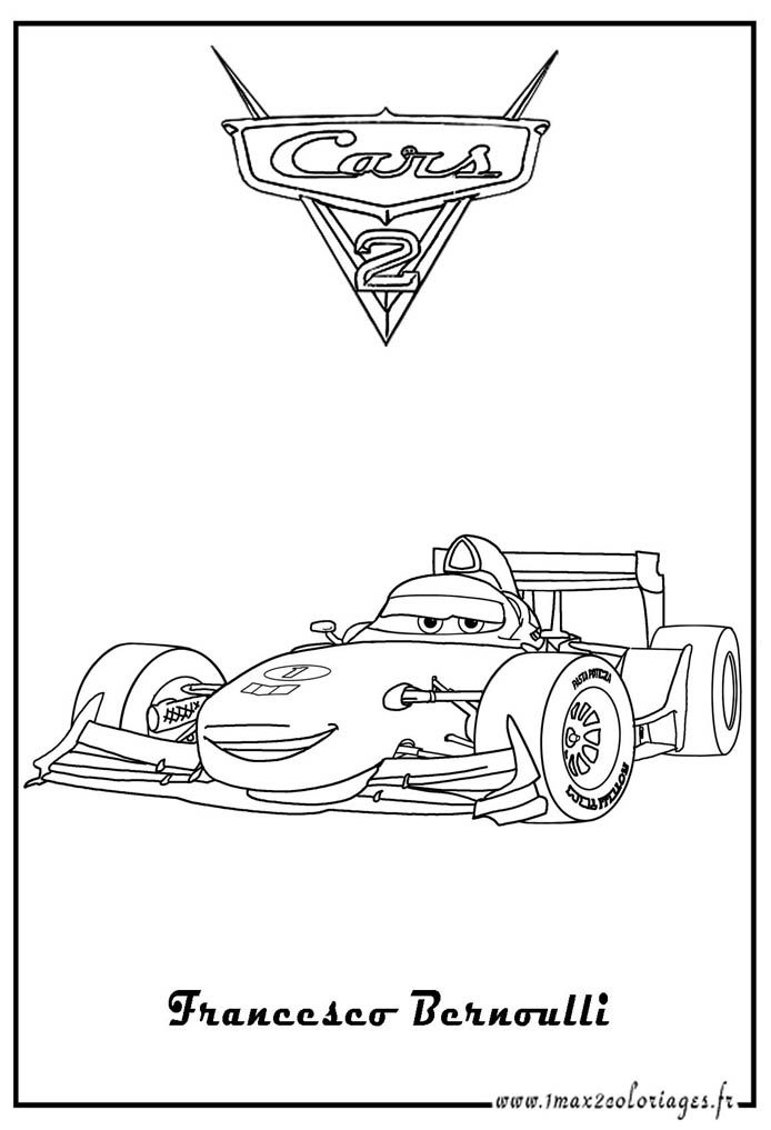 Coloriages Cars 2 For The Little Ones Coloring Pages Printable