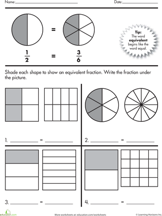 math worksheet : finding equivalent fractions  equivalent fractions worksheets  : Equivalent Fraction Practice Worksheets