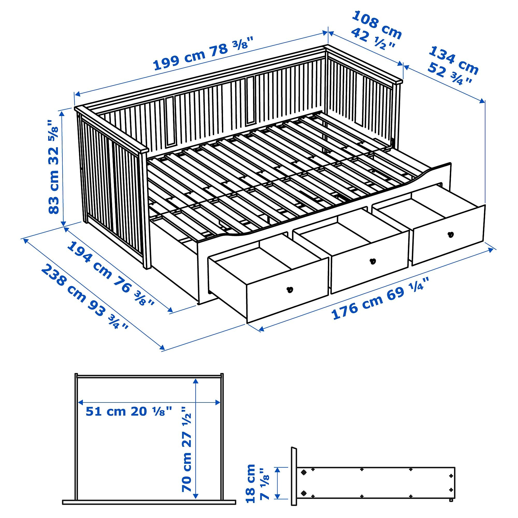 Hemnes Structure Lit D Appoint A 3 Tiroirs Blanc Une Place Site Web Officiel Ikea Hemnes Day Bed Hemnes Day Bed Frame