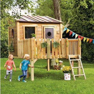 Best Stelzen Spielhaus f r den Garten JAKO uO Kiefern Holz