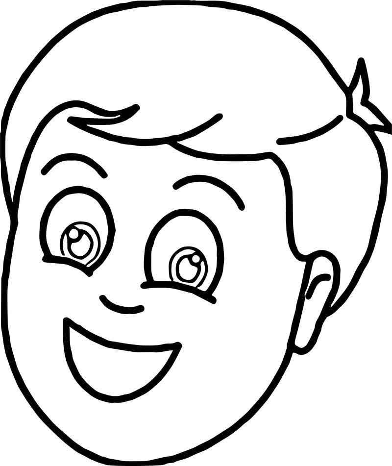 Tn Boy Smiling Face Coloring Page Coloring Pages For Kids Boy Coloring Coloring Pages For Boys