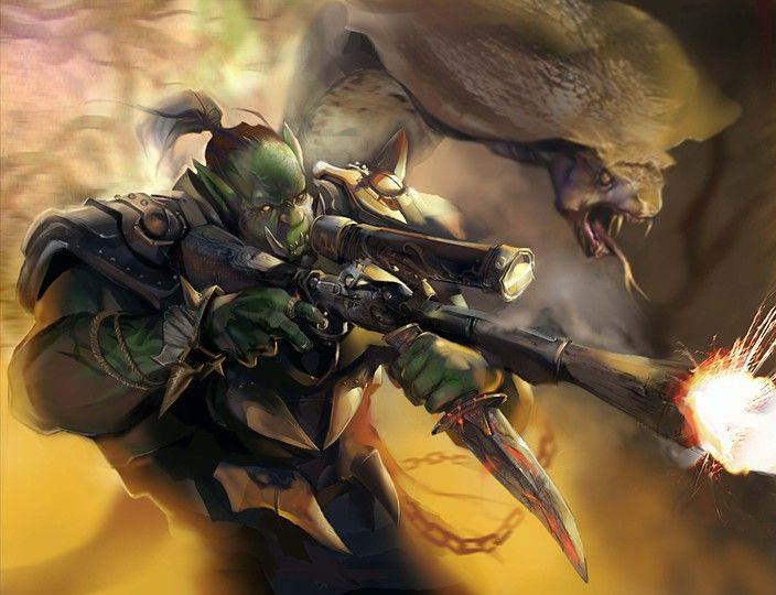 Orc hunter | World Of Warcraft | Concept art world, World ...