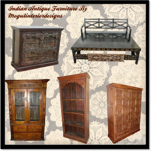 """Rustic Indian Furniture"" by mogulinteriordesign on Polyvore"