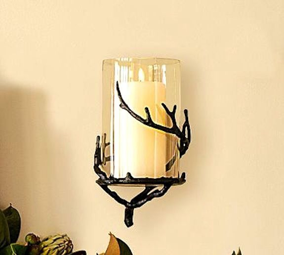 Pottery Barn Twig Hurricane Candle Holder S Wall Mount