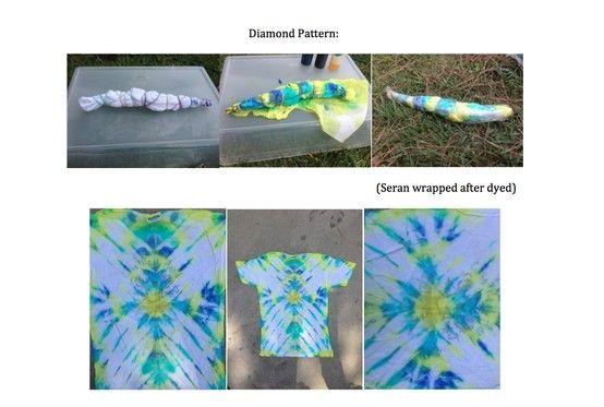 Tie Dye Pattern I Tried: Diamond Pattern