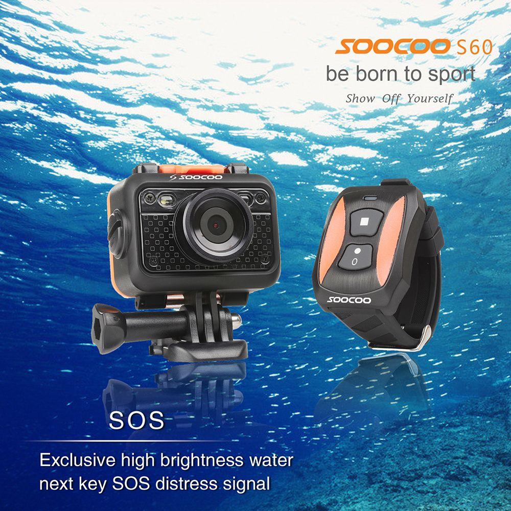 SOOCOO S60 UnderWater 60M SOS Flash 170 Angle HD 1080P