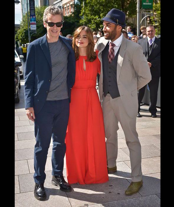 Peter and Jenna with co-star Samuel Anderson