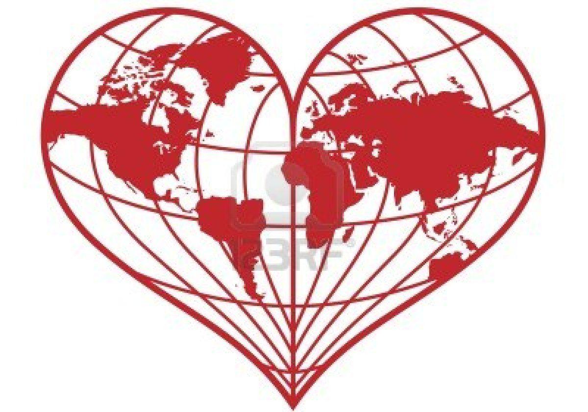 Heart Shaped Red Earth Globe Earth Drawings Globe Drawing Earth Globe