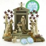 Willow Tree Complete 23 Piece Nativity Set By Susan Lordi with Go Green! Compressed Bamboo Towels #Christmas