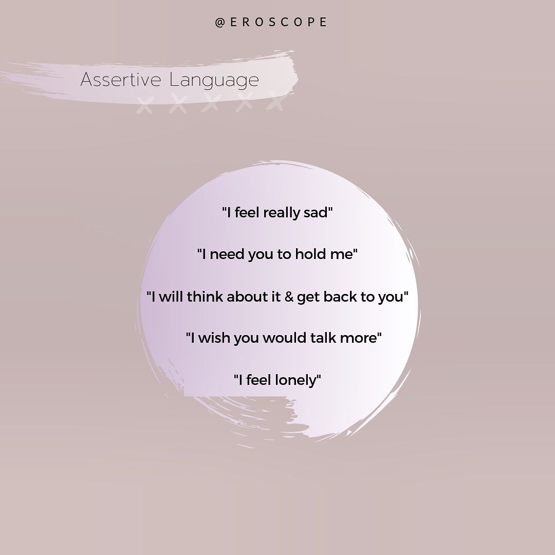 Examples Of Assertive Language