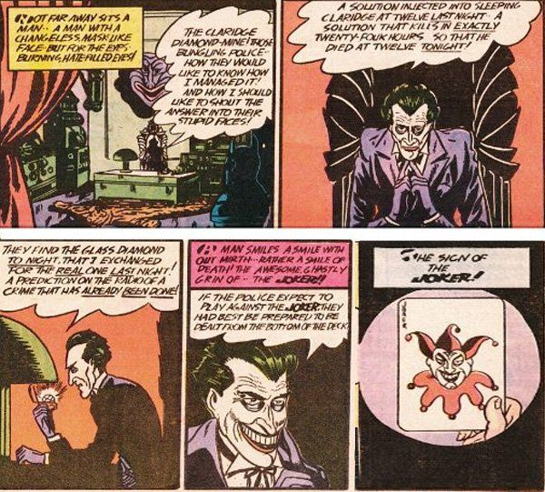 The First Appearance Of The Clown Prince Of Crime The Joker Detective Comics 1 Batman Universe Joker Is