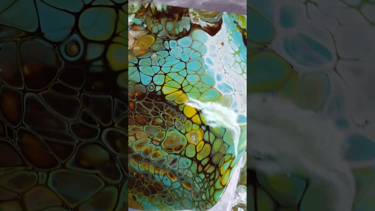 Acrylic Pouring How To Get Big Cells Youtube Art