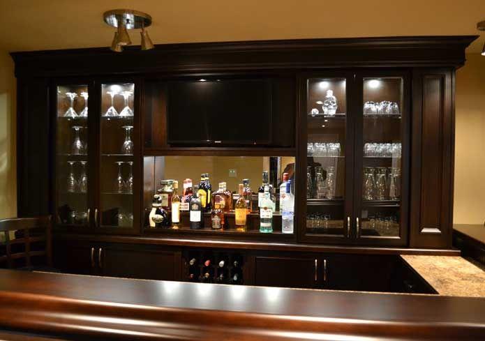 Home Basement Bar Photo Gallery | Bassi Basement Bar 11 | Basement Bar  Ideas | Pinterest | Basements, Bar And Dark Wood